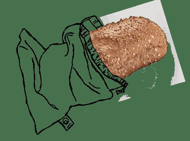broodzak illustratie