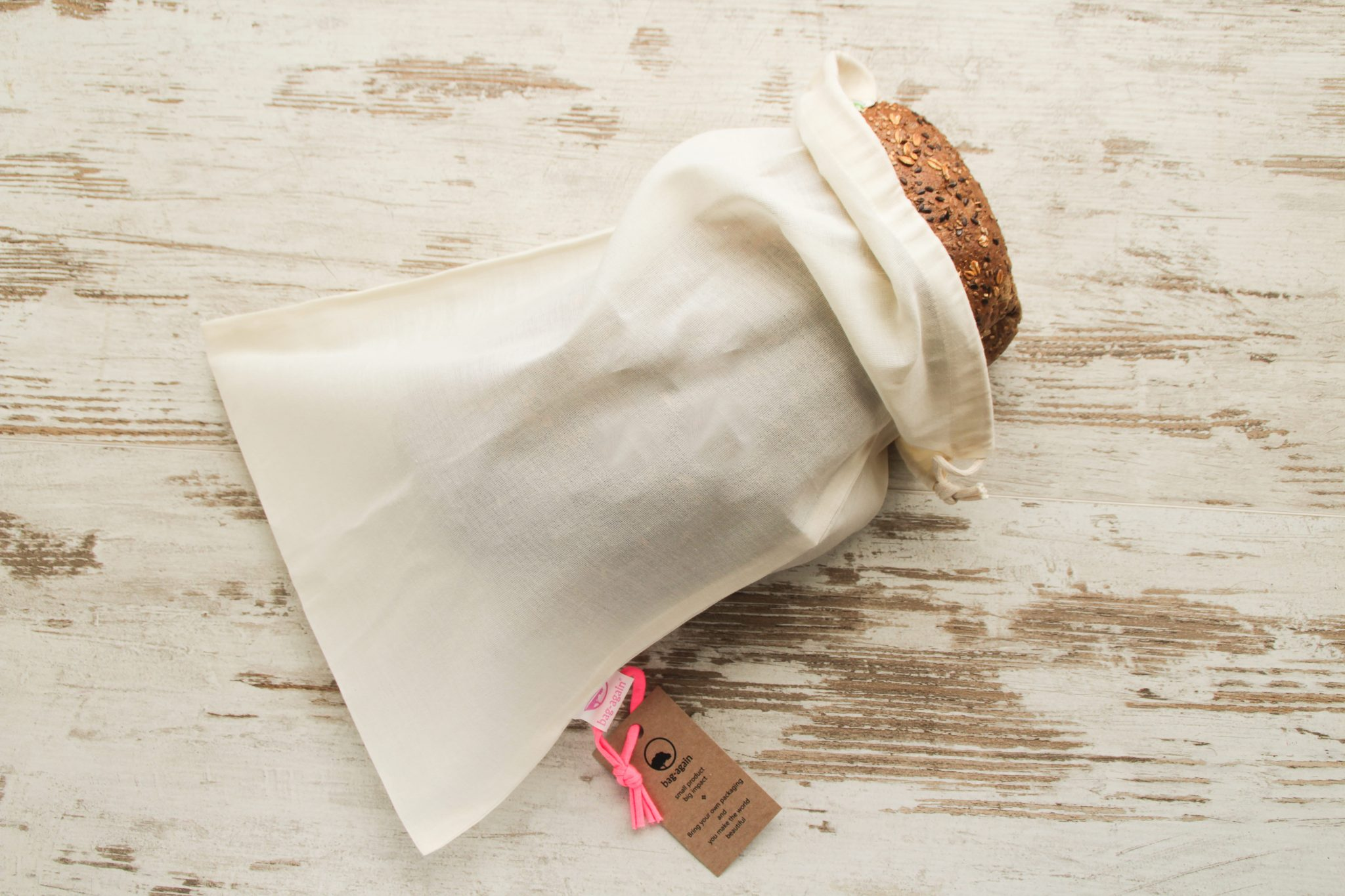breadbag L, broodzak L, organic cotton, biologisch katoen, bag-again, zero waste, zero waste webshop