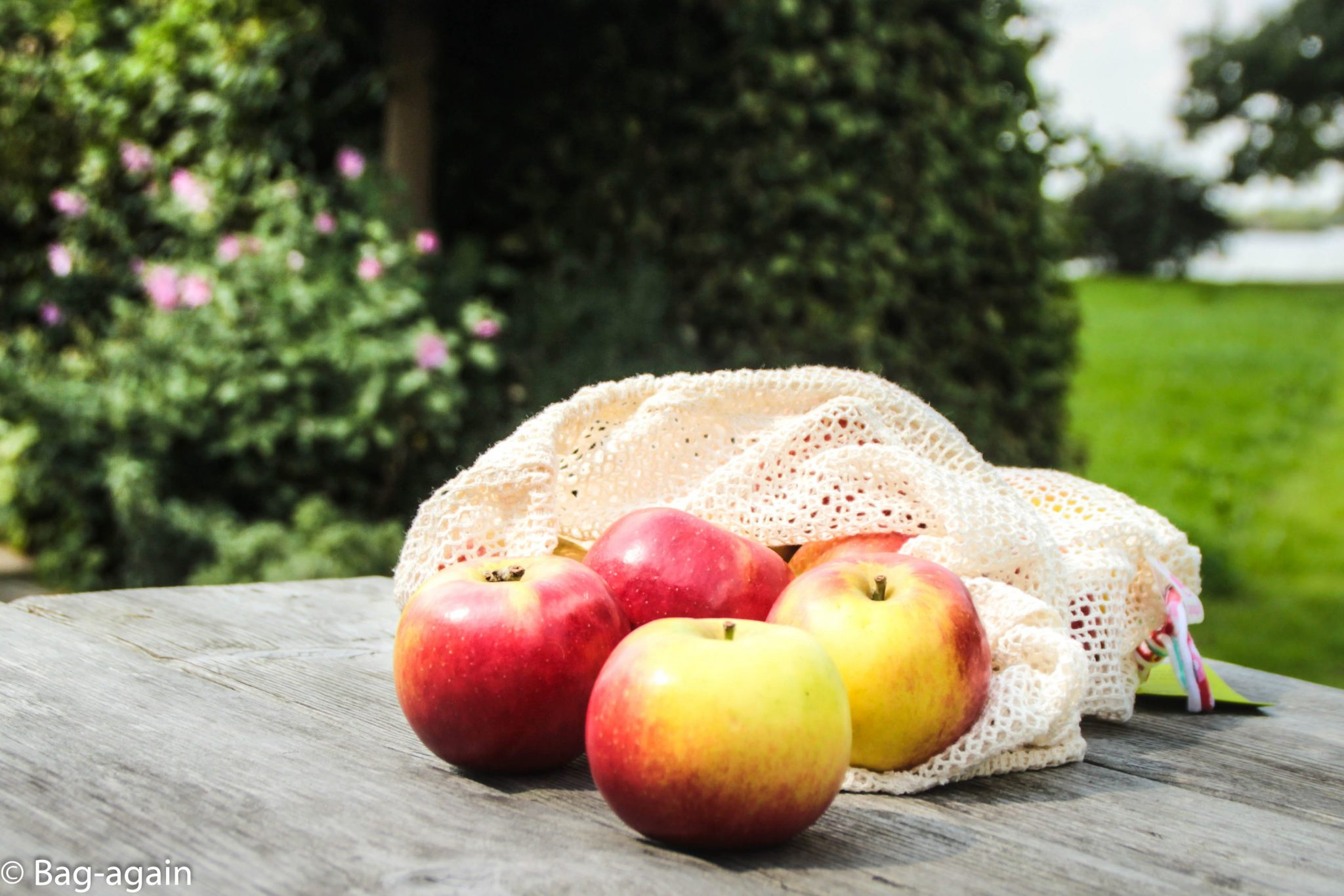 fruit en vegetable bag,, bag-again, zero waste, zero waste webshop, B2B, organic cotton, produce bag, GOTS