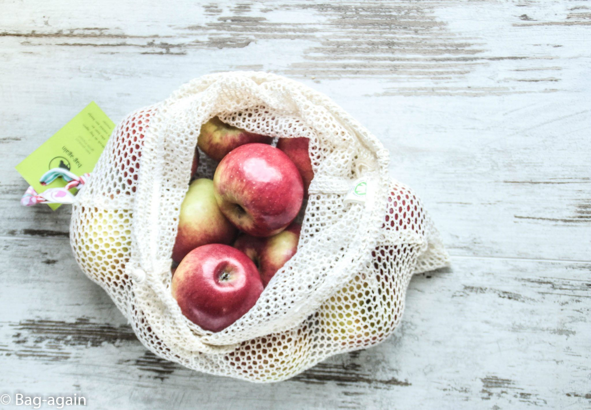fruit&vegetable bag L, bag-again, zero waste, zero waste shop, zero waste webshop, B2B, organic cotton, produce bag