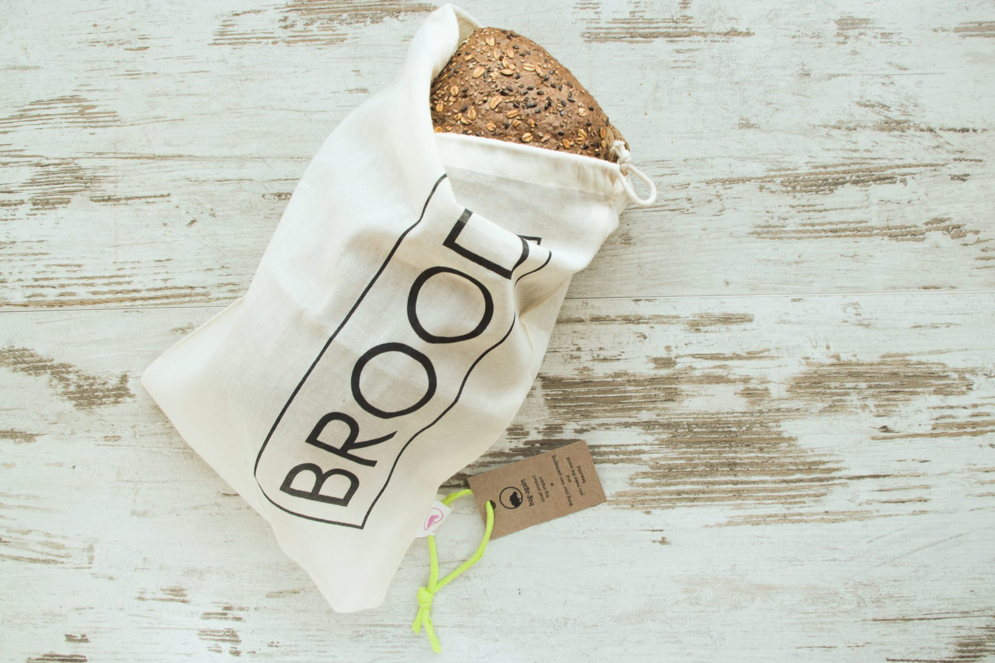 broodzak organic cotton, bag-again broodzak, breadbag, biologisch katoen, zero waste shop, zero waste webshop