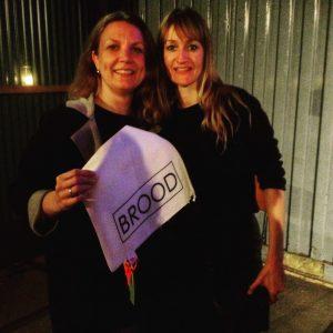 selfie Bea en Inge, lecture Amsterdam 2017, zero waste, bag-again