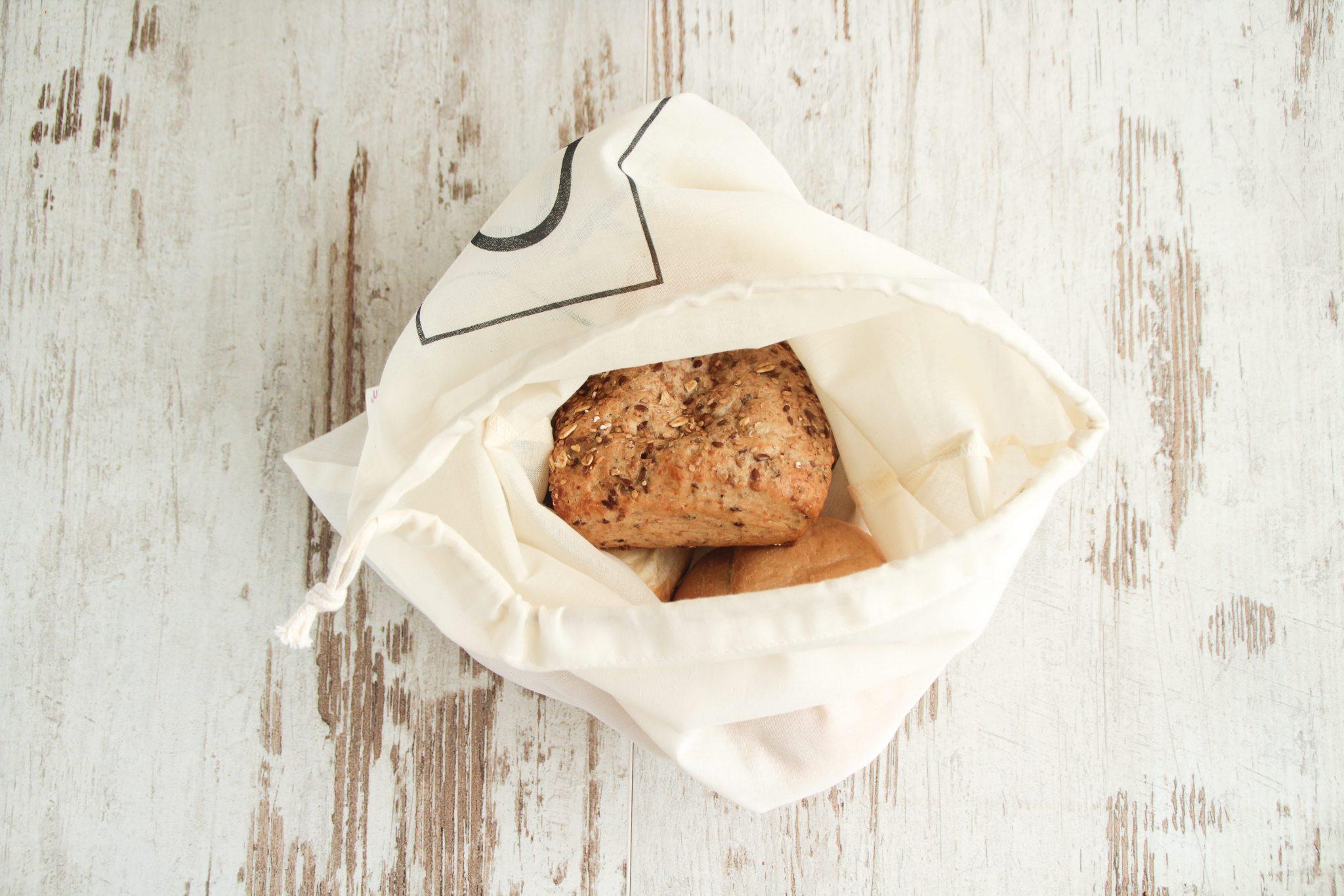 broodzak S BREAD, breadbag, organic cotton, biologisch katoen, GOTS, bag-again, zero waste shop