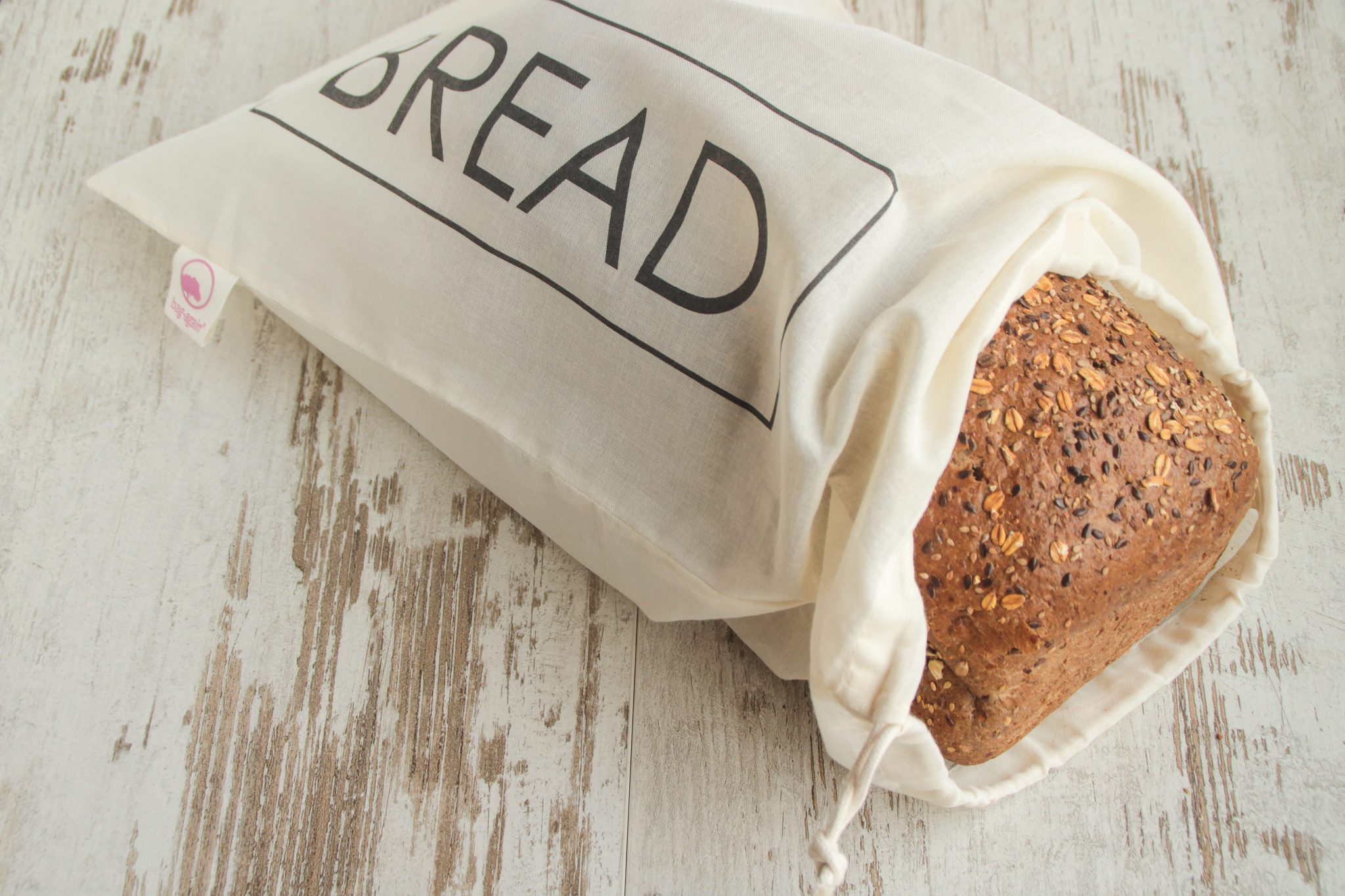 broodzak S BREAD, breadbag, organic cotton, biologisch katoen, GOTS, bag-again, zero waste shop