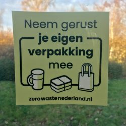 raamsticker Bag-again zerowastenederland