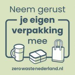 sticker zero waste nederland Bag-again zero waste shop