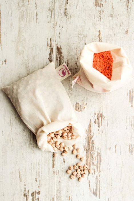 bulkzakjes onbedrukt 2 bag-again, zero waste webshop katoenen zakje, biologisch katoen