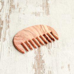 kam met wijde tanden, grove tanden kam, brede tanden kam , houten kam, redecker, bag-again, zero waste webshop