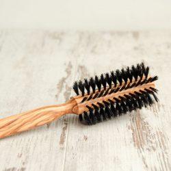 ronde houten haarborstel, bag-again zero waste webshop