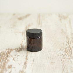 bruin glazen potje 30 ml, bag-again zero waste webshop