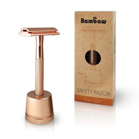 safety razor in standaard rose gold, bag-again zero waste webshop