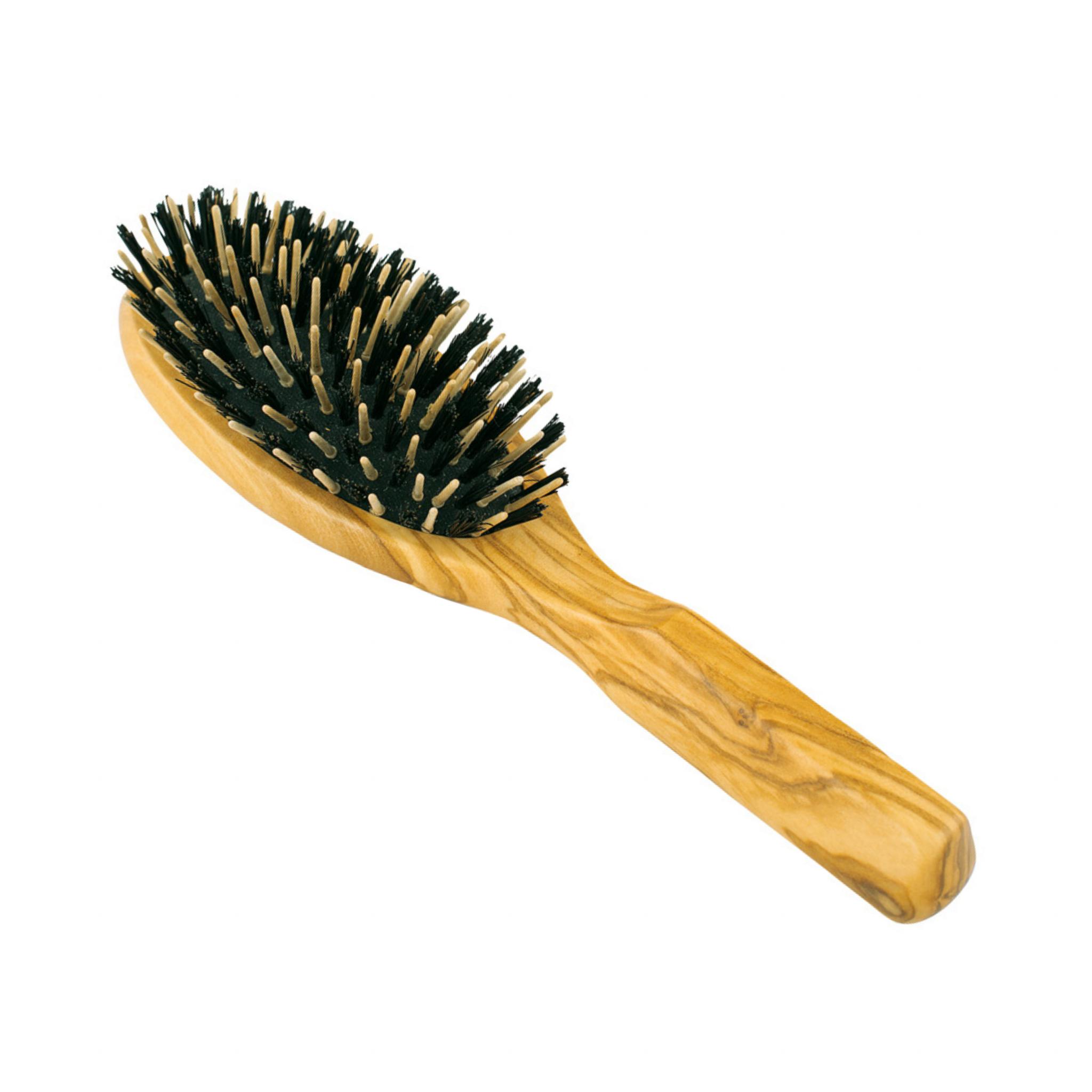 houten haarborstel dik haar Bag-again zero waste webshop