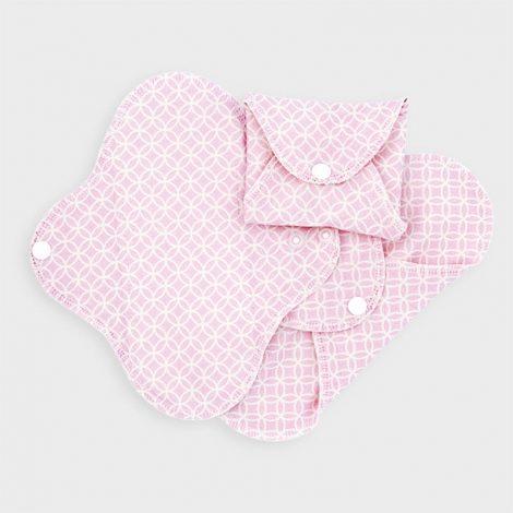 imse vimse , wasbaar maandverband slim pink halo, bag-again zero waste webshop
