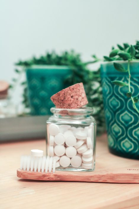 denttabs kids strawberry met en zonder fluor, Bag-again zero waste webshop