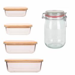 Mason jars, weckpotten en glazen voorraaddozen