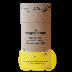 HappySoaps zonnebrand stick SPF20 Bag-again zero waste webshop