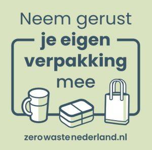 raamsticker zero waste nederland Bag-again zero waste webshop