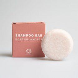 shampoobar medium size rozenblaadjes Bag-again zero waste webshop